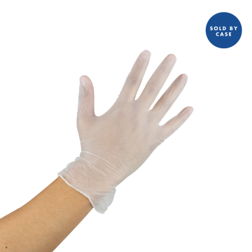 Karat Vinyl Powder-Free Gloves (Clear) - Large - 1,000 ct