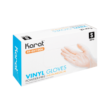 Karat Vinyl Powder-Free Gloves (Clear) - X-Large - 1,000 ct