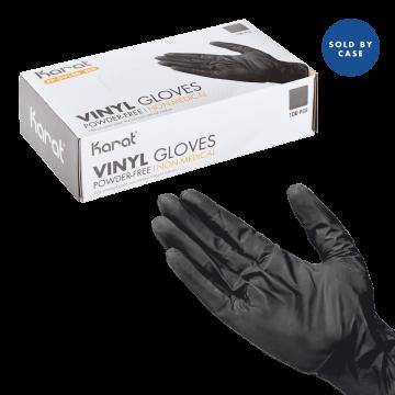 Karat Black Vinyl Powder-FREE Glove  - 1000 pcs (Large)