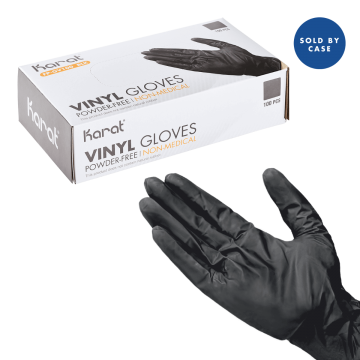 Karat Black Vinyl Powder-FREE Glove  - 1000 pcs (Small)