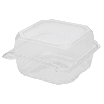 Karat 6''x6'' PET Plastic Hinged Containers - 500 ct
