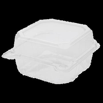 Karat 6''x6'' PET Plastic Hinged Containers - 500 ct