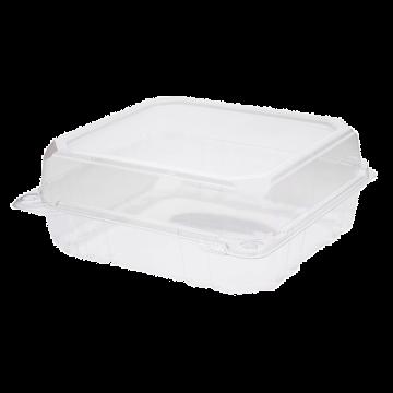 Karat 8''x8'' PET Plastic Hinged Containers - 250 ct