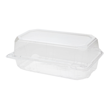 "Karat 9"" x 5"" PET Plastic Hinged Containers - 250 ct"