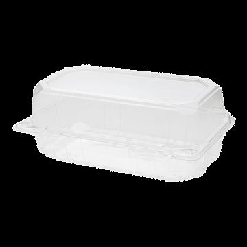 "Karat 9"" x 5"" PET Plastic Hinged Containers - 250 ct"