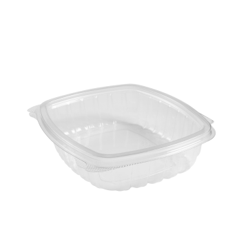 Karat 24oz PET Plastic Hinged Deli Container - 200 ct