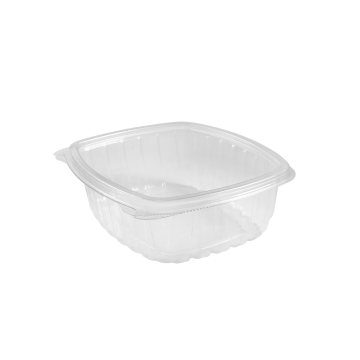 Karat 32 oz PET Plastic Hinged Deli Container - 200 ct