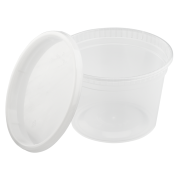Karat 16oz PP Plastic Injection Molded Deli Containers & Lids - 240 ct