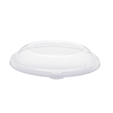 Karat PET Dome Lid for 24-40 oz. Bagasse Bowl, Round - 200 ct