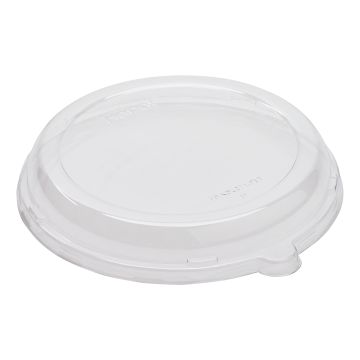 Karat PET Plastic Dome Lid for 24 oz. Bagasse Bowls - 200 ct