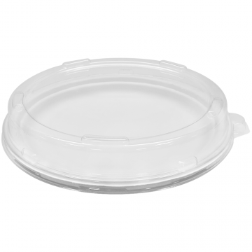 "Karat PET Plastic Dome Lid for 9"" Bagasse Plates - 200 ct"