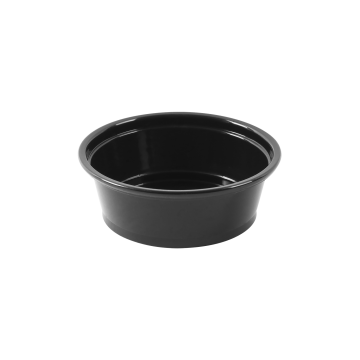 Karat 1.5oz PP Plastic Portion Cups - Black - 2,500 ct