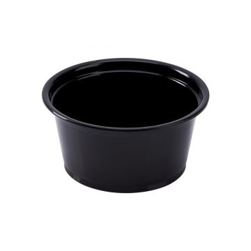 Karat 2oz PP Plastic Portion Cups - Black - 2,500 ct