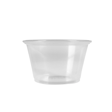 Karat 4oz PP Plastic Portion Cups - Clear - 2,500 ct
