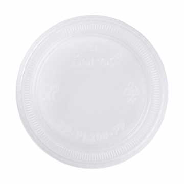 Karat 1.50oz. & 2oz PP Plastic Portion Cup Lids - 2,500 ct