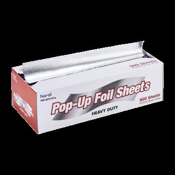 """Karat 10.75"""" x 12"""" Heavy-Duty Pop-up Aluminum Foil Sheets, FW-AFS101"""