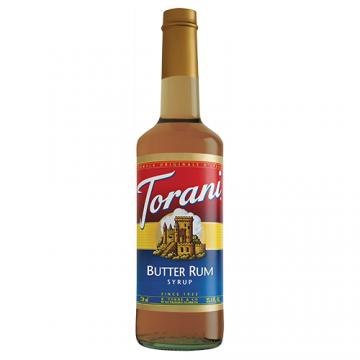 Torani Butter Rum Syrup (750 mL), G-Butter Rum