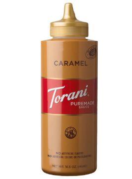 Torani Caramel Puremade Sauce Squeeze Bottle (16.5oz)