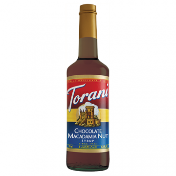 Torani Chocolate Macadamia Nut Syrup (750 mL), G-Chocolate Macadamia Nut