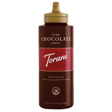 Torani Dark Chocolate Sauce Squeeze Bottle (16.5oz), G-Chocolate-S (16.5oz bottle)