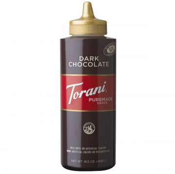 Torani Dark Chocolate Puremade Sauce Squeeze Bottle (16.5oz)
