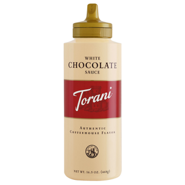 Torani White Chocolate Sauce Squeeze Bottle (16.5oz), G-Chocolate-WMS (16.5oz bottle)