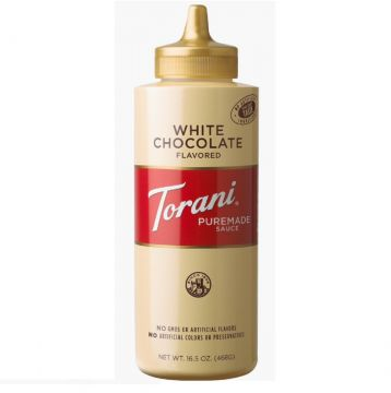 Torani White Chocolate Puremade Sauce Squeeze Bottle (16.5oz)