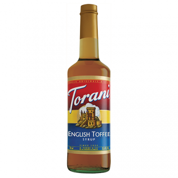 Torani English Toffee Syrup (750mL), G-English Toffee