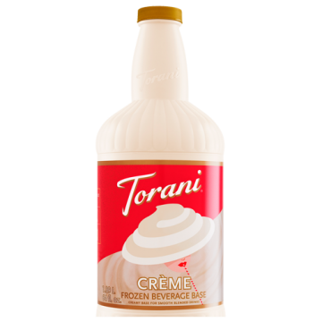 Torani Creme Frozen Beverage Base (64oz), G-Frozen Blend (Creme)