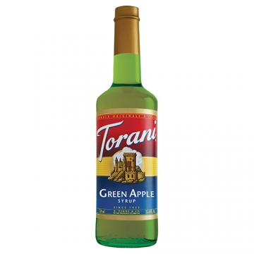 Torani Green Apple Syrup (750 mL), G-Green Apple