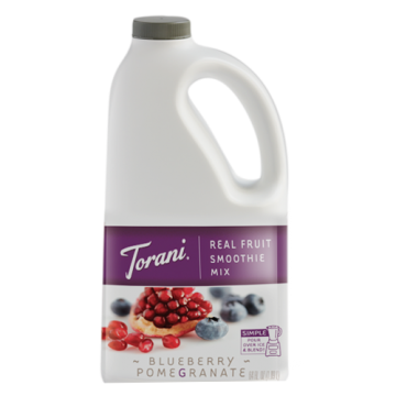 Torani Blueberry Pomegranate Real Fruit Smoothie Mix (64 oz), G-RealFruit Smoothie (BLUE POM)