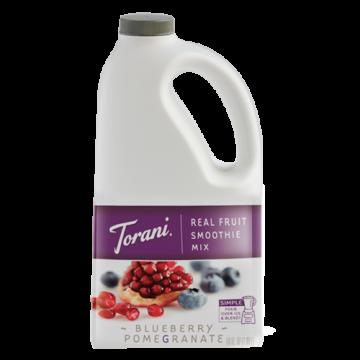 Torani Blueberry Pomegranate Real Fruit Smoothie Mix (64 oz), G-RealFruit Smoothie (BLUE POM)