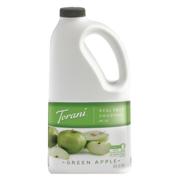 Torani Green Apple Real Fruit Smoothie Mix (64oz), G-RealFruit Smoothie (GREEN APPLE)