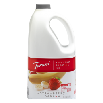 Torani Strawberry Banana Real Fruit Smoothie Mix (64oz), G-RealFruit Smoothie (STRAWBERRY BANANA)