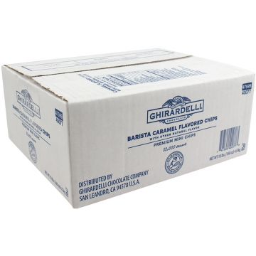 Ghirardelli Barista Caramel Flavored Mini Chips (10lbs)