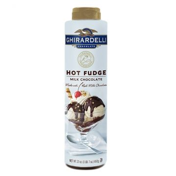 Ghirardelli Milk Chocolate Hot Fudge (23 oz), I-Hot Fudge (23oz bottle)