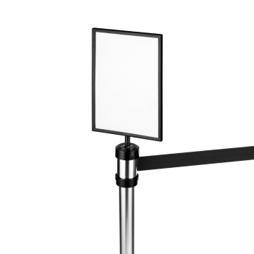"Karat 8.5"" x 11"" Guidance Stanchion Sign Holder (Black)"