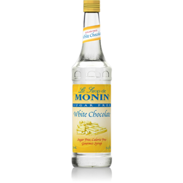 Monin Sugar Free White Chocolate Syrup (750mL), H-Chocolate, White-sf