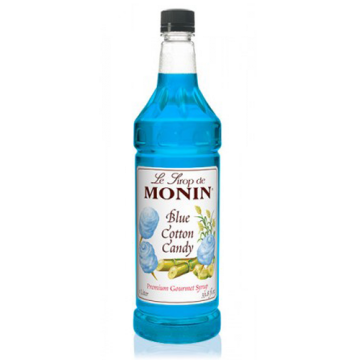 Monin Blue Cotton Candy Syrup (1L), H-Cotton Candy, Blue 1.0L