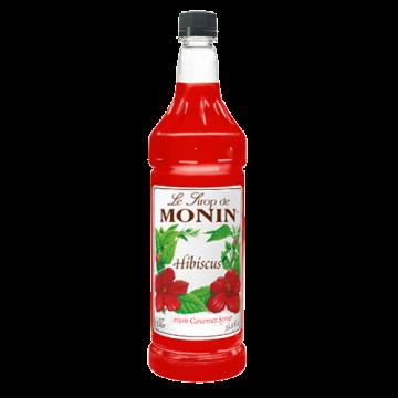 Monin Hibiscus Syrup (1L), H-Hibiscus, 1.0L