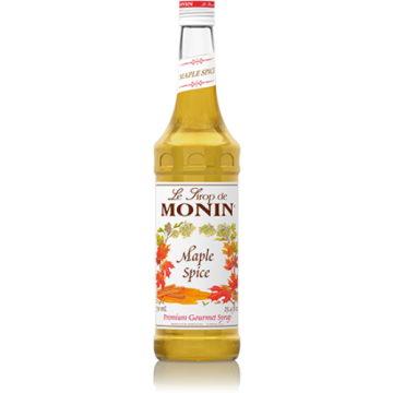 Monin Maple Spice Syrup (750mL), H-Maple Spice