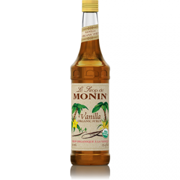 Monin Vanilla Organic Syrup (750mL), H-Organic, Vanilla