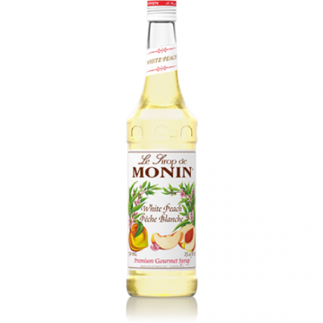 Monin White Peach Syrup (750mL), H-Peach, White