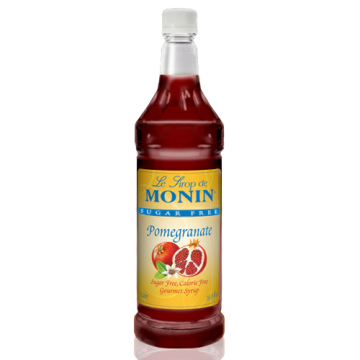 Monin Sugar Free Pomegranate Syrup (1L), H-Pomegranate, 1.0L- sf