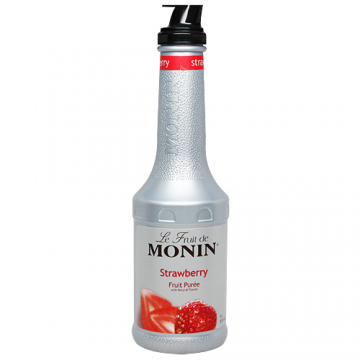 Monin Strawberry Fruit Puree (1L), H-Puree, Strawberry