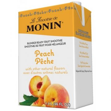 Monin Peach Fruit Smoothie Mix (46oz), H-Smoothie, Peach
