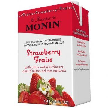 Monin Strawberry Fruit Smoothie Mix (46oz), H-Smoothie, Strawberry