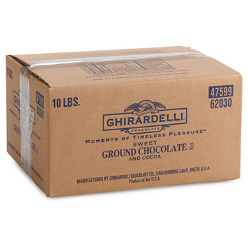 Ghirardelli Sweet Ground Chocolate and Cocoa Powder (10 lbs)