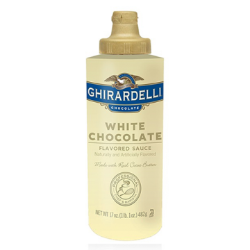 Ghirardelli White Chocolate Flavored Sauce Squeeze Bottle (16oz)