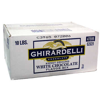 Ghirardelli Sweet Ground White Chocolate Flavored Powder (10 lbs)